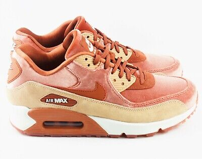 RARE NIKE AIR Max 90 LX Dusty Peach Velvet Style 898512 201