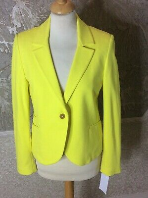 Isabella Oliver women's yellow jacket size 2/ chest 34 bnwt