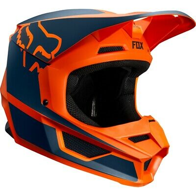 Fox V1 Przm Crosshelm Größe XL orange blau Offroadhelm