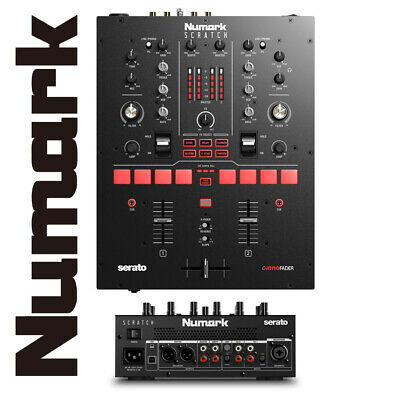 Numark Scratch 24-bit 2-Channel Portable Serato DJ Mixer with Software FX