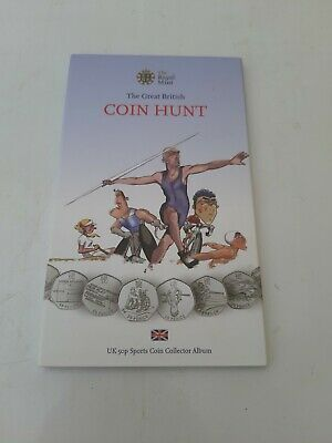 LONDON 2012 OLYMPIC SPORTS 50p Fifty Pence COLLECTION ALBUM ROYAL MINT VGC