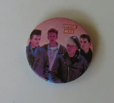 DEPECHE MODE YOUNG GROUP SHOT OLD METAL PIN BADGE FROM THE 1980's POP RETRO