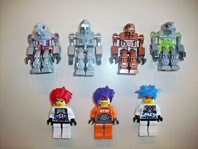 10 LEGO EXOFORCE MINIFIGS LOT space men figure exo-force hair robots drones EXO
