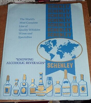 """Nice Old Whisky Book """" SCHENLEY QUALITY WHISKIES """" 1966"""