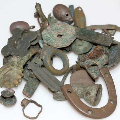 STUNNING LOT OF ANCIENT VARIOUS ARTIFACTS AND CULTURES  - BRONZE -320 Grams