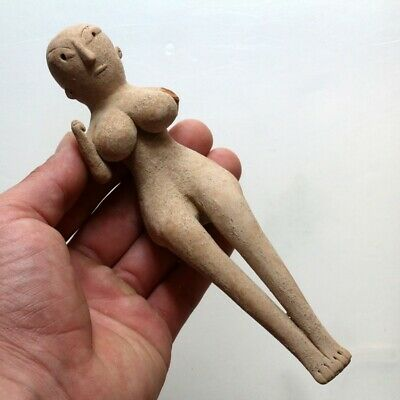 Rare Near Eastern Indus Valley Fertility Terracotta Idol Statue Circa 1900 Bc