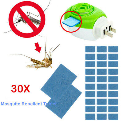 30pcs Mosquito Repellent Insect Bite Tablet Refills Replace Pest Repeller Killer