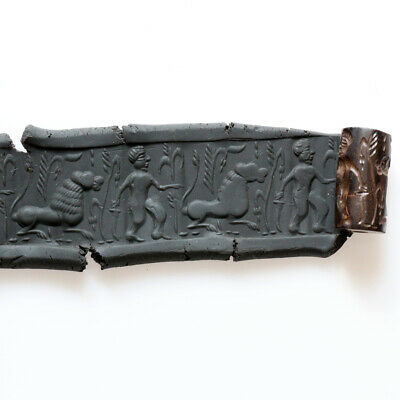 Museum Quality Hematite Near East Bead Seal Circa 1000-700 Bc