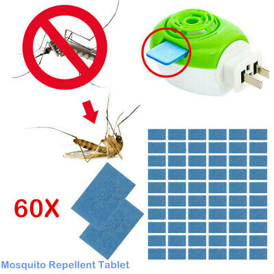 60pcs Mosquito Repellent Insect Bite Tablet Refills Replace Pest Repeller Killer