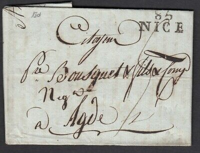 Marque Conquis 85 Nice Alpes Maritimes 1801 Agde Herault Lettre Cover France