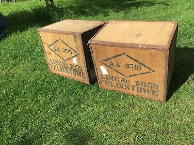 Vintage Wooden Tea Chests - Crate Size Very good condition