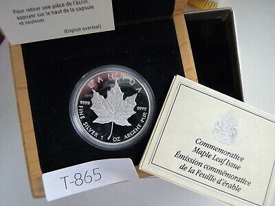 CANADA 1989 5 DOLLAR SILVER maple leaf  1 OZ .9999  LOW MINTAGE first edition
