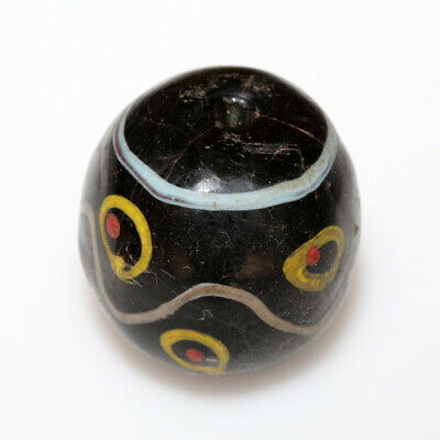Scarce - Phoenician Glass Colored Glass Bead Ca 700-500 Bc