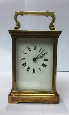 Antique 8 Day Brass Carriage Clock