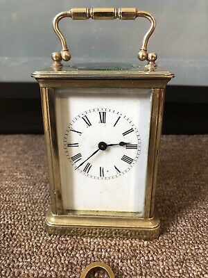 High Quality Fully Working Having Roman Numerals Brass Carriage Clock.