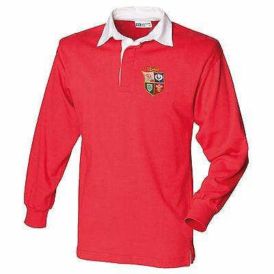 Classic Vintage Style Lions Rugby Shirt with Free Personalization (XS-3XL)