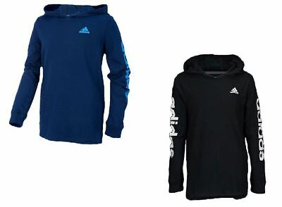 NEW Adidas Youth Boy's Logo Lite Long Sleeve Hooded Shirt - VARIETY