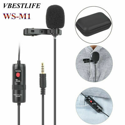 VBESTLIFE WS-M1 Clip-on Lapel Mini Lavalier Mic Microphone 3.5mm for CellPhone