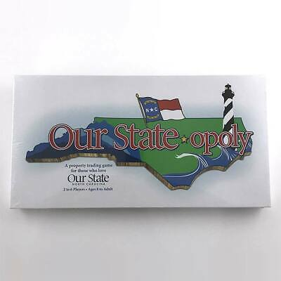 Our State-opoly North Carolina NC Property Trading Board Game