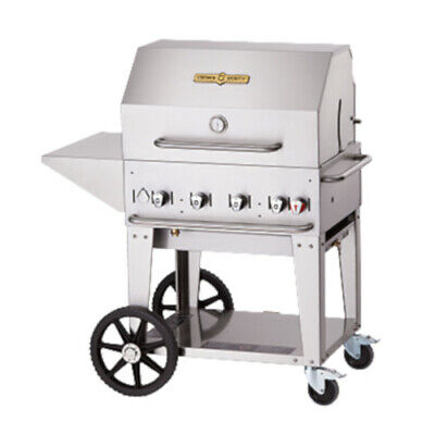 Crown Verity CV-MCB-30PKG-LP 4-Burner LP Mobile Outdoor Grill