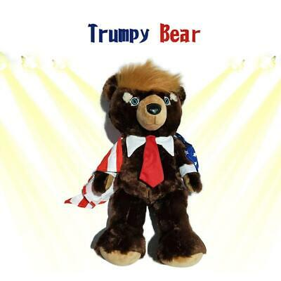 60cm Cute Animal Bear Dolls Trump Bear Plush Stuffed Toy Girl Birthday Gift