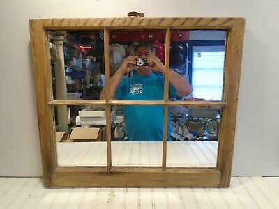 Vintage Antique Window Sash Mirror