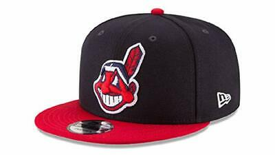 Cleveland Indians New Era 9Fifty Navy/Red Chief Wahoo Logo Snapback Hat/Cap Nwt