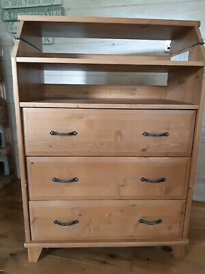 Super Ikea Diktad Fold Out Baby Changing Table Chest Of Drawers Storage Unit Pine Home Interior And Landscaping Fragforummapetitesourisinfo
