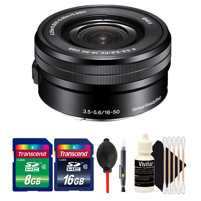Sony SELP1650 16-50mm Power Zoom Lens + Accessory Kit