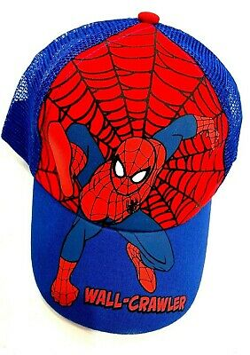 92f46ba229078e Marvel Kids Boys Spider-Man Snap-back summer mesh Blue Baseball Cap Hat