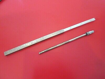 Dated 1897 - STERLING - EXTENDABLE - RULER  w/ FIGURAL BULLET TOP - SWAGGER