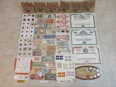 LOT CANADA COINS, BANK OF CANADA SILVER, WORLD PAPER GRAB BAGS mail $13.99