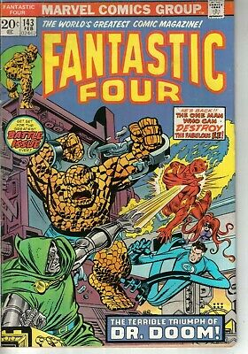 Fantastic Four #143 Marvel Bronze Age 1974 W: Gerry Conway A: Rich Buckler