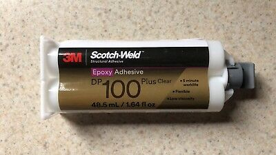 3M Scotch-Weld Epoxy Adhesive DP100 Plus Clear, 1.64 oz