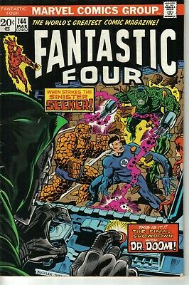 Fantastic Four #144 Marvel Bronze Age 1974 W: Gerry Conway A: Rich Buckler