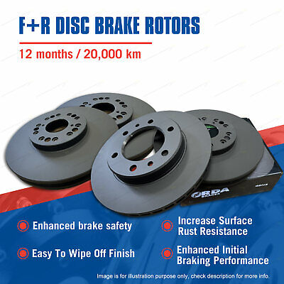Front + Rear Disc Brake Rotors for Volvo XC90 D5 1/11-on Premium Quality