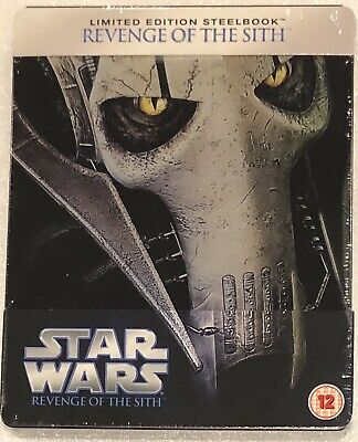 Star Wars Revenge Of The Sith Steelbook - Limited Edition Blu-Ray **Region Free*