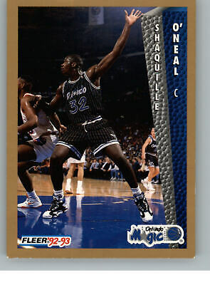 Shaquille Oneal Rookie Card Shaq Rc 199293 Fleer Slam Dunk