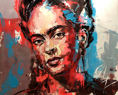 Frida Kahlo Wall Art Print Stretched Canvas Prints  Abstract Artwork Oil Decor