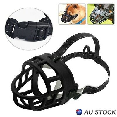 Adjustable Pet Dog Mask Bark Mouth Muzzle Grooming Anti Stop Chewing Durable