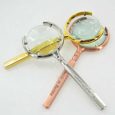 Handheld Magnifier 8X Magnifying Glass 60mm Optical Lens Reading Jewellery Loupe