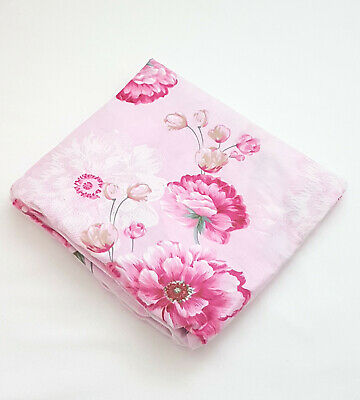 *New*Floral Cot Fitted Sheet Baby Nursery pink Blooms