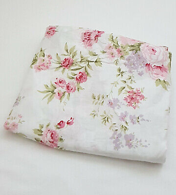 *New*Floral Cot Fitted Sheet Baby Nursery dainty pink Blooms