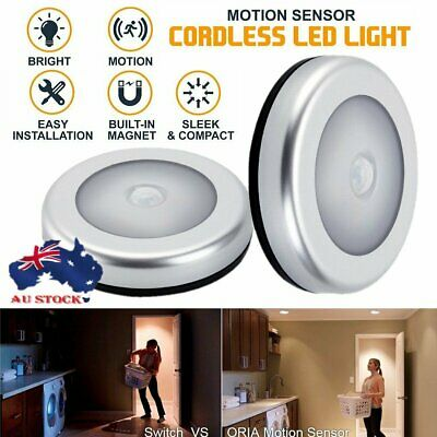 Indoor Outdoor 6 LED Motion Sensor magnet Light Battery Powered Stairs Hallway