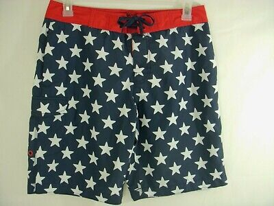 4cbc062260 OLD NAVY Board Shorts for Surf, Swim, Water Sports Men's Size M Patriotic  Stars