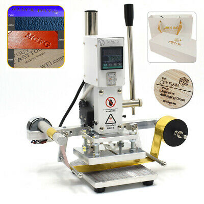 Hot Foil Stamping Printing Machine Leather PVC Gold Blocking with Paper 8x10CM