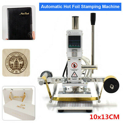 10*13CM Digital Hot Stamping Machine w/ Foil Paper Leather Press Bronzing PVC