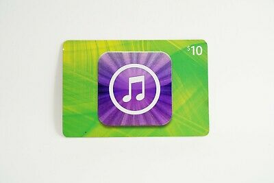 Apple iTunes $10 Physical Gift Card USPS First Class Giftcard