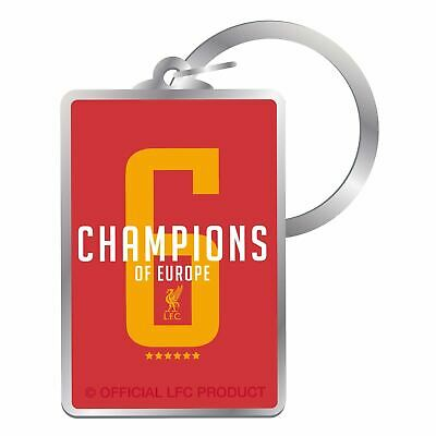 Liverpool FC Red UCL Champions Keyring LFC Official