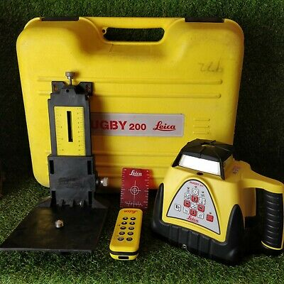 Leica Rugby 200 Rotating Laser . GWO . FREE P&P ' 1707